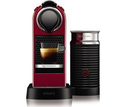 NESPRESSO by Krups Citiz & Milk XN760540 Coffee Machine - Cherry Red Best Price, Cheapest Prices