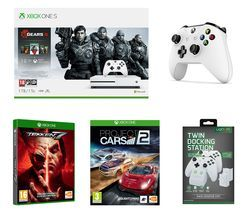 MICROSOFT Xbox One S, Gears 5 Special Edition, Tekken 7, Project Cars 2, Wireless Controller & Twin Docking Station Bundle Best Price, Cheapest Prices