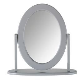 Argos Home Oval Dressing Table Mirror - Grey Best Price, Cheapest Prices