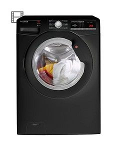 Hoover Dynamic Next Dxoa68Lb3B 8Kg Load, 1600 Spin Washing Machine With One Touch - Black Best Price, Cheapest Prices