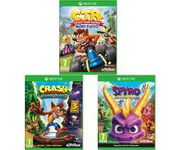 XBOX ONE Crash Team Racing - Nitro-Fuelled, Crash Bandicoot N Sane Trilogy & Spyro Trilogy Reignited Bundle Best Price, Cheapest Prices