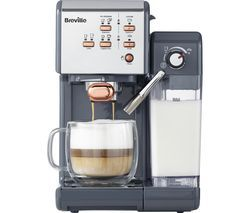 BREVILLE One-Touch VCF109 Coffee Machine - Graphite Grey & Rose Gold Best Price, Cheapest Prices
