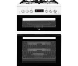BEKO XTG653W 60 cm Gas Cooker - White Best Price, Cheapest Prices