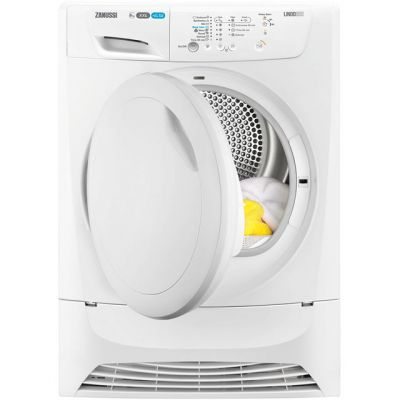 Zanussi Lindo300 ZDC8202PZ 8Kg Condenser Tumble Dryer - White - B Rated Best Price, Cheapest Prices