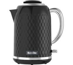 BREVILLE Curve VKT017 Jug Kettle - Black Best Price, Cheapest Prices