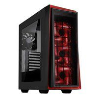 Silverstone RL06 Pro Mid Tower Computer Chassis, Side Window, LED Fan, 2x USB 2.0/2x USB 3.0, Black/Red, ATX/mATX Best Price, Cheapest Prices