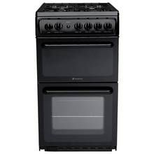 Hotpoint HAG51K Gas Cooker - Black Best Price, Cheapest Prices