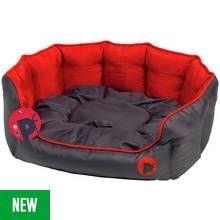 Oxford Oval Red Dog Bed - Large Best Price, Cheapest Prices