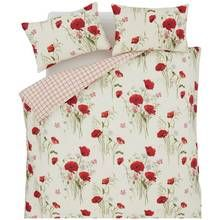 Catherine Lansfield Wild Poppies Duvet Cover Set - Kingsize Best Price, Cheapest Prices