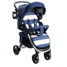 My Babiie Billie Faiers MB30 Stripe Pushchair - Blue Best Price, Cheapest Prices