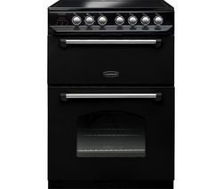 RANGEMASTER Classic 60 Electric Ceramic Cooker - Black Best Price, Cheapest Prices