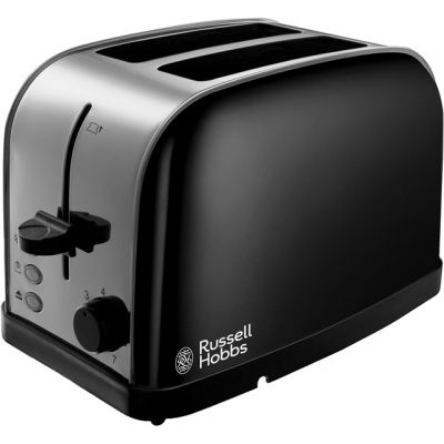 Russell Hobbs Dorchester 18782 2 Slice Toaster - Black Best Price, Cheapest Prices