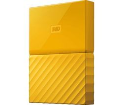 WD My Passport Portable Hard Drive - 1 TB, Yellow Best Price, Cheapest Prices