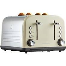 Cookworks 4 Slice Toaster - Almond Best Price, Cheapest Prices