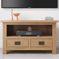 Rustic Saxon Small TV Unit in Solid Oak - TV's up to 31