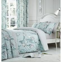 Dreams N Drapes Tulip Duck Egg Bedding Set - Superking Best Price, Cheapest Prices