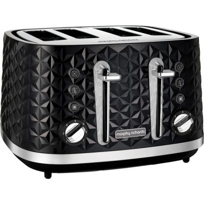 Morphy Richards Vector 248131 4 Slice Toaster - Black Best Price, Cheapest Prices