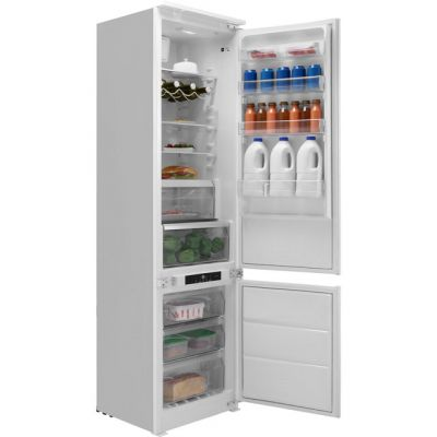 Hotpoint Day1 BCB8020AAFC.1 Extra Tall Integrated 70/30 Frost Free Fridge Freezer with Sliding Door Fixing Kit - White - A+ Rated Best Price, Cheapest Prices