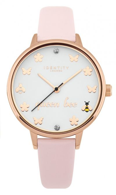 Identity London Ladies Pink Faux Leather Strap Watch Best Price, Cheapest Prices