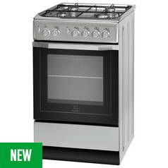 Indesit IS5G1PMSS Gas Cooker - Stainless Steel Best Price, Cheapest Prices