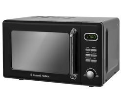 RUSSELL HOBBS RHRETMD706B Compact Solo Microwave - Black Best Price, Cheapest Prices