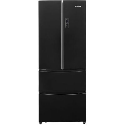 Hoover Dynamic 4x4 HMN7182B American Fridge Freezer - Black - A+ Rated Best Price, Cheapest Prices