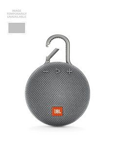 JBL JBL Clip3 Wireless Bluetooth Ultra Portable and Rugged Speaker with Integrated Carabiner Clip and Up To 10 hours Playtime - Grey Best Price, Cheapest Prices