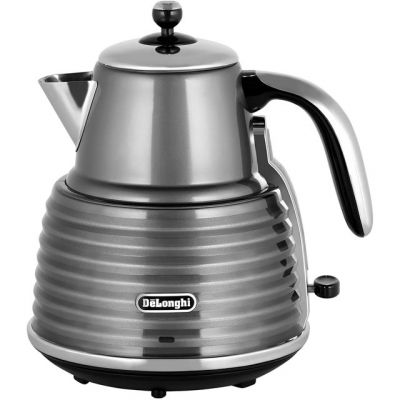 De'Longhi Scultura KBZ3001.GY Kettle - Grey Best Price, Cheapest Prices