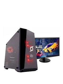 Zoostorm Stormforce Onyx Amd Ryzen 3 3200G, 8Gb Ram, 1Tb Hard Drive &Amp; 250Gb Ssd, Gaming Pc (Black) + 24 Inch Full Hd Asus Gaming Monitor Best Price, Cheapest Prices