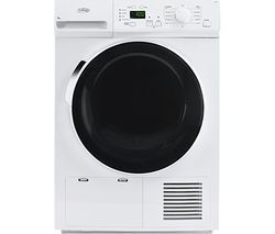 BELLING Bel FCD800 Whi Condenser Tumble Dryer - White Best Price, Cheapest Prices