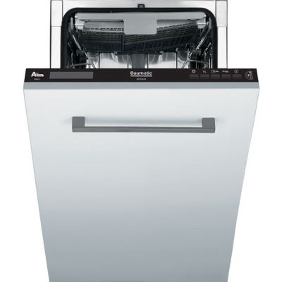 Baumatic BDIS409 Fully Integrated Slimline Dishwasher - Black Control Panel - A++ Rated