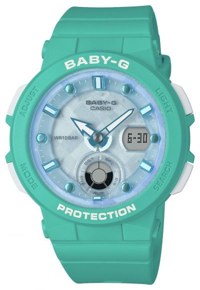 Casio Baby G Ladies Aqua Rubber Strap Watch Best Price, Cheapest Prices