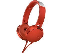 SONY Extra Bass MDR-XB550AP Headphones - Red Best Price, Cheapest Prices