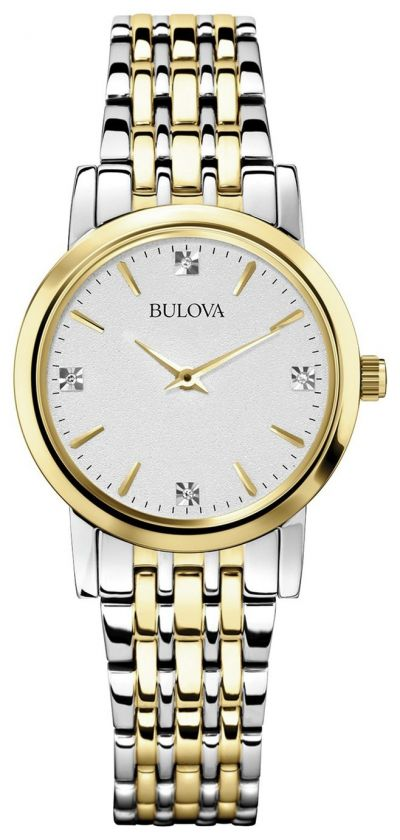 Bulova Ladies Gold and Silver Bracelet Strap Watch Best Price, Cheapest Prices