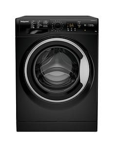 Hotpoint Nswm1043Cbs 10Kg Load, 1400 Spin Washing Machine - Black Best Price, Cheapest Prices