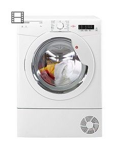 Hoover Link HLC8LG 8kg Load Condenser Tumble Dryer with One Touch - White Best Price, Cheapest Prices