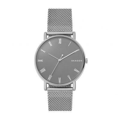 Skagen Men's Signiture Metallic Mesh Strap Watch Best Price, Cheapest Prices