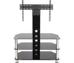 AVF SDCL900 900 mm TV Stand with Bracket - Black & Chrome Best Price, Cheapest Prices