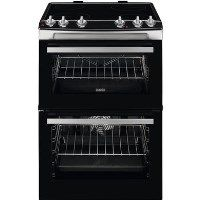 Zanussi ZCV66050XA 60cm Double Oven Electric Cooker With Ceramic Hob - Stainless Steel Best Price, Cheapest Prices