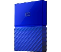 WD My Passport Portable Hard Drive - 1 TB, Blue Best Price, Cheapest Prices