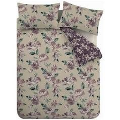 Catherine Lansfield Painted Floral Plum Bedding Set – King Best Price, Cheapest Prices