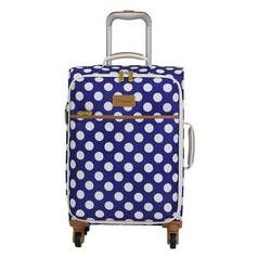 IT Luggage 4 Wheel Semi Expander Suitcase - Blue