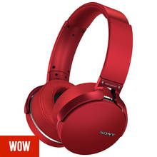 Sony MDR-XB950B1 Wireless Over-Ear Headphones - Red Best Price, Cheapest Prices