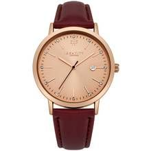Identity London Ladies' Stone Set Dial Burgundy Strap Watch Best Price, Cheapest Prices