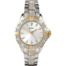 Seksy Intense Ladies' Stone Set Two Tone Bracelet Watch Best Price, Cheapest Prices
