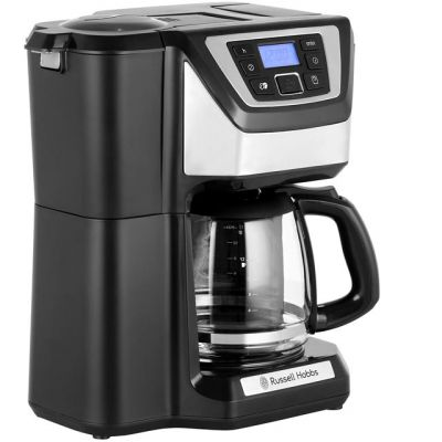 Russell Hobbs Chester Grind & Brew 22000 Filter Coffee Machine with Timer - Silver / Black Best Price, Cheapest Prices