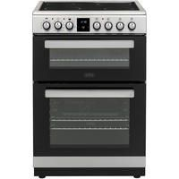 Belling FSE608MFc 60cm Double Oven Multifunction Electric Cooker With Ceramic Hob - Stainless Steel Best Price, Cheapest Prices