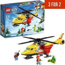 LEGO City Vehicles Ambulance Toy Helicopter Playset - 60179 Best Price, Cheapest Prices