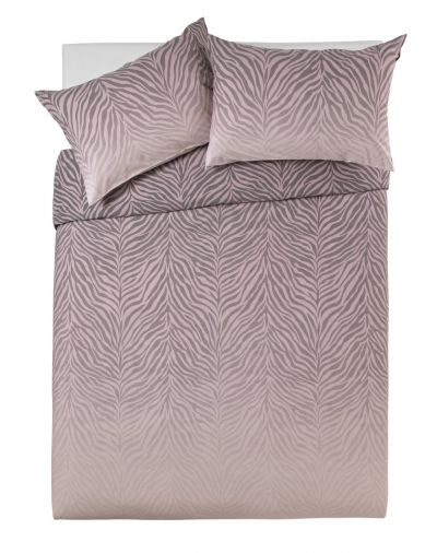 Argos Home Blush Zebra Ombre Bedding Set - Double Best Price, Cheapest Prices