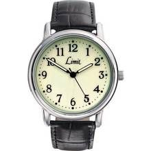 Limit Men's Black Faux Leather Strap Watch Best Price, Cheapest Prices